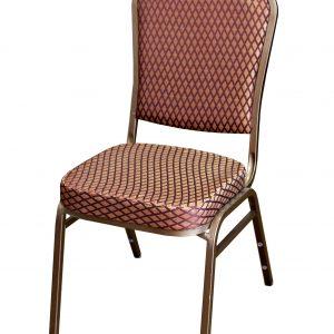 Cateringová banketová stolička zlatohnedá
