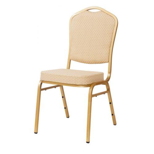 Cateringová banketová stolička krémová