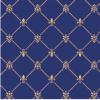 Modry koberec detail
