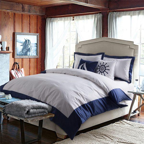 Hotelová obliečka navy blue