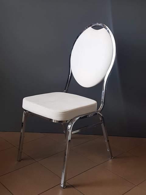 Cateringová banketová stolička chromová