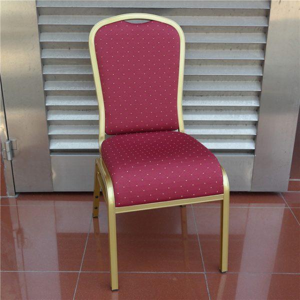Cateringová banketová stolička luxus červená